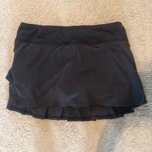 Black Lululemon Pleated Skirt